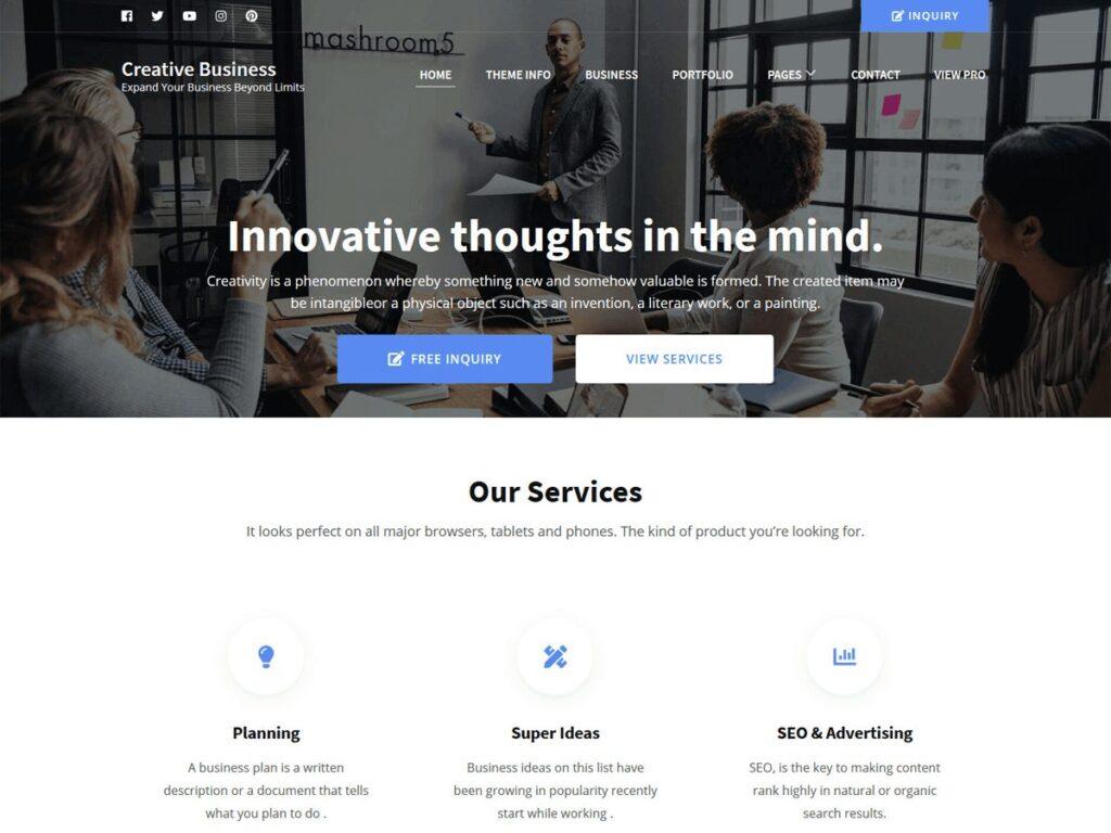 دانلود قالب شرکتی وردپرس Creative Business