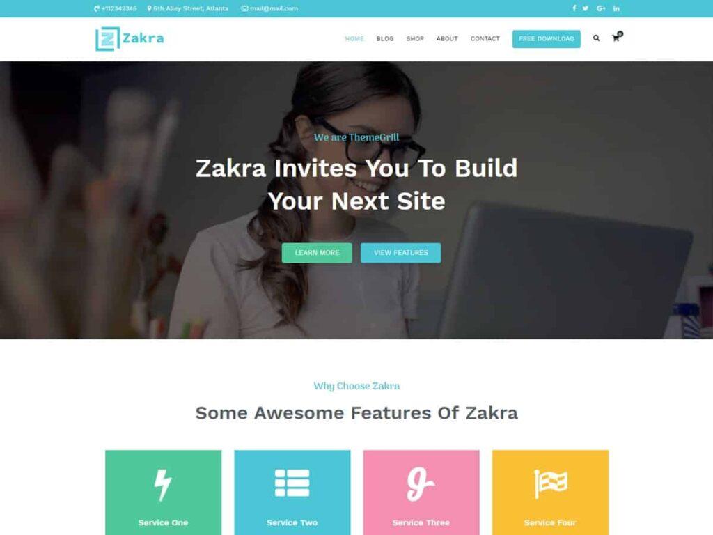 دانلود قالب شرکتی وردپرس Zakra