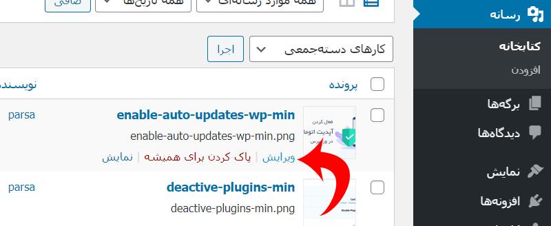 نحوه تغییر نام ( Rename ) تصاویر و فایلها در وردپرس
