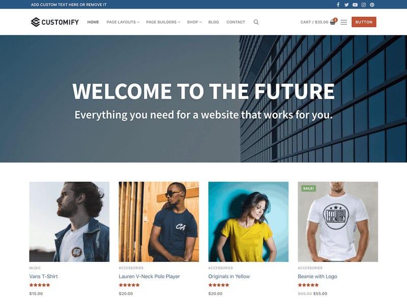 دانلود رایگان قالب فروشگاهی Customify Ecommerce