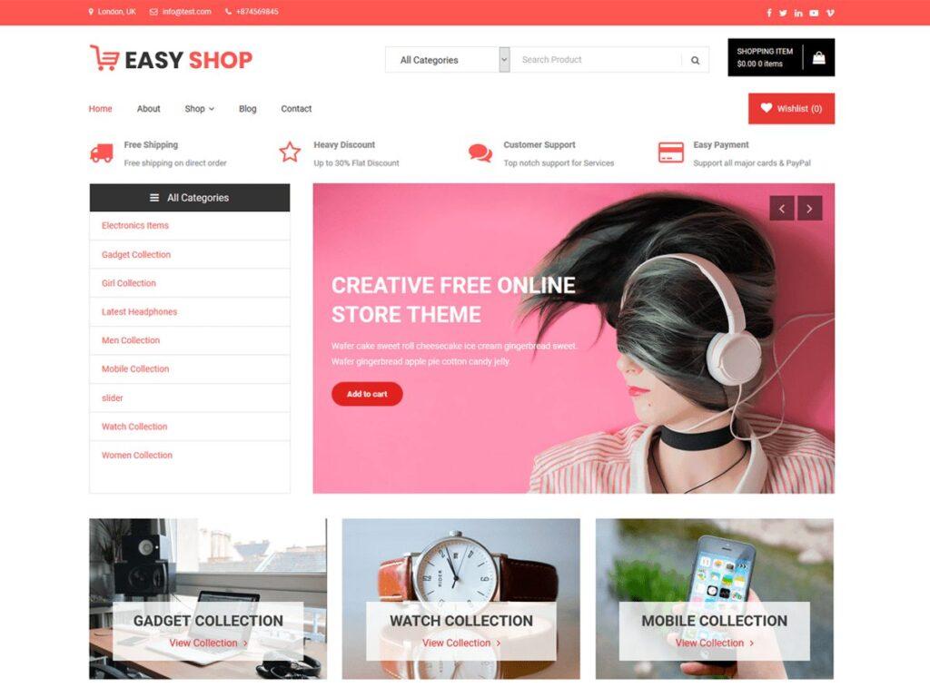 دانلود رایگان قالب فروشگاهی ووکامرس Easy Shop
