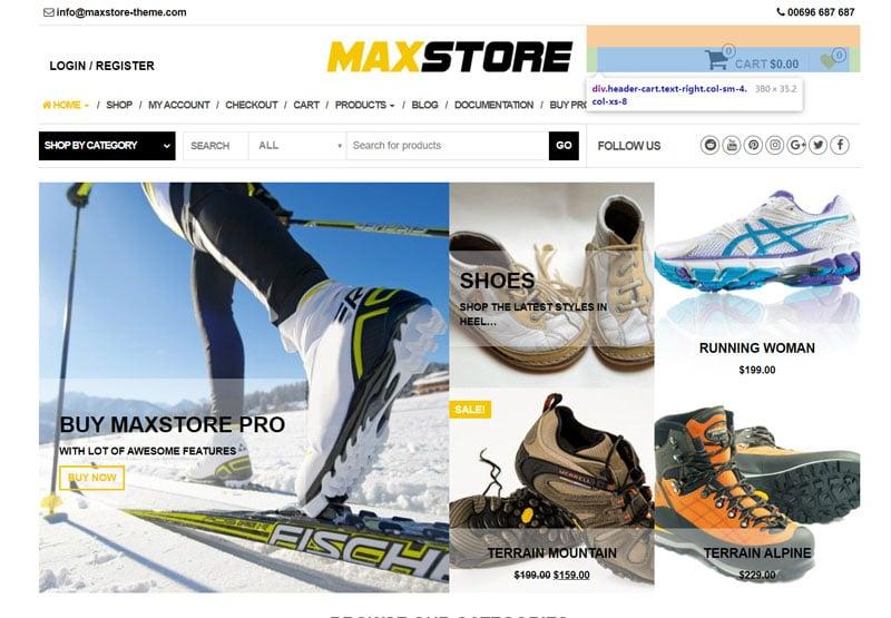 دانلود قالب فروشگاهی ووکامرس MaxStore