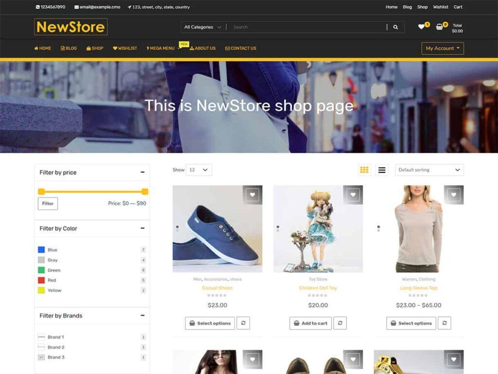 دانلود قالب فروشگاهی New Shop eCommerce ووکامرس