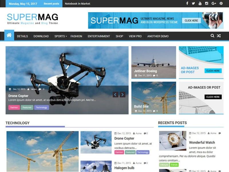 دانلود قالب خبری رایگان SuperMag وردپرس