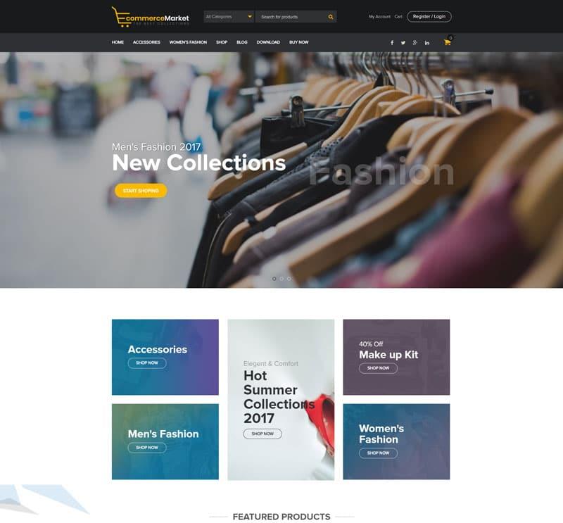 دانلود قالب فروشگاهی رایگان ووکامرس وردپرس به نام eCommerce Market