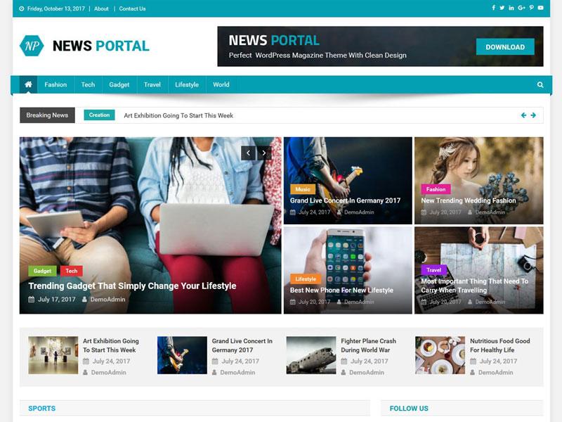 قالب خبری رایگان News Portal وردپرس