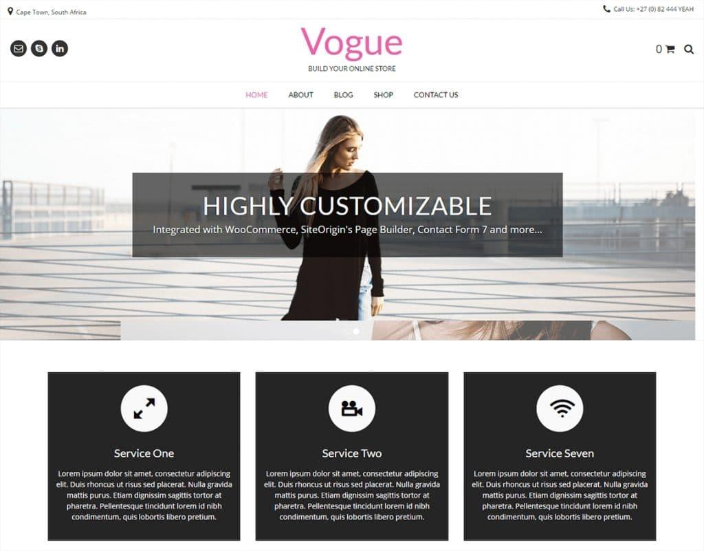 دانلود رایگان قالب فروشگاهی ووکامرس Vogue
