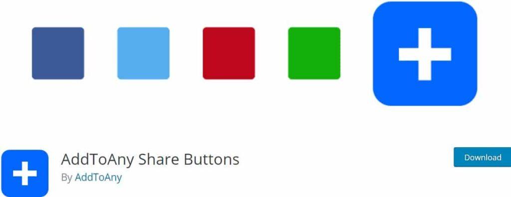 افزونه وردپرس AddToAny Share Buttons