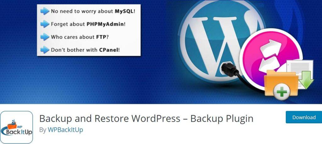 افزونه پشتیبان گیری وردپرس WPBackItUp Backup and Restore