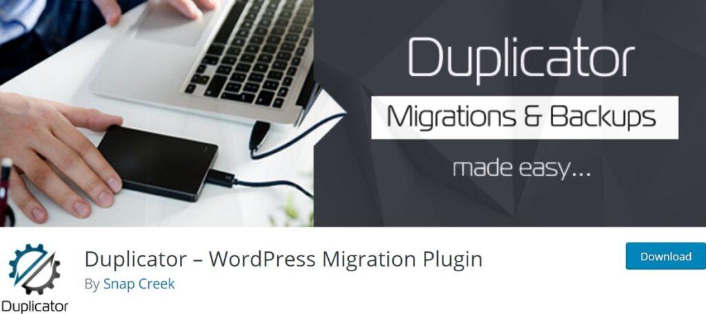 افزونه تهیه نسخه پشتیبان Duplicator