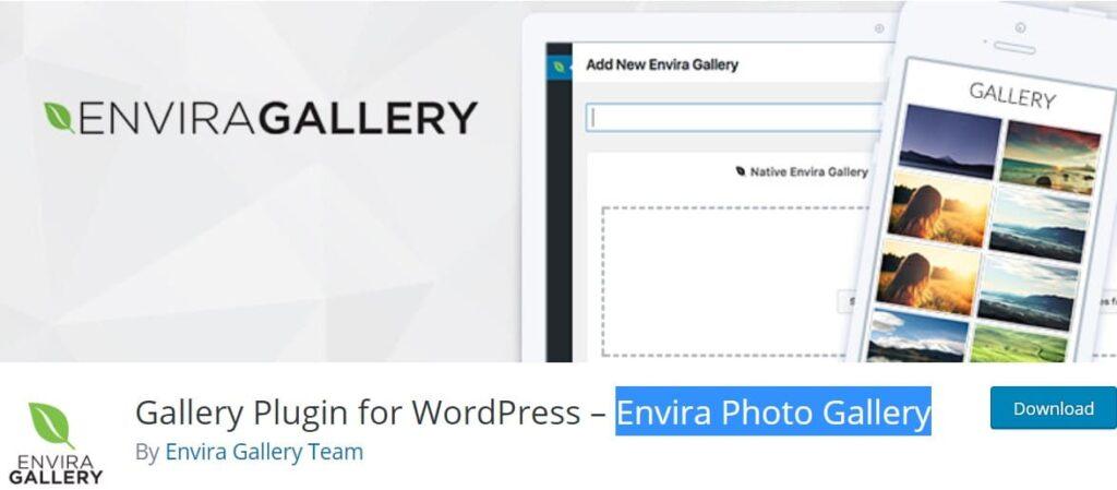 افزونه رایگان Envira Photo Gallery