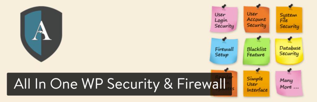 افزونه امنیتی وردپرس All In One WP Security & Firewall