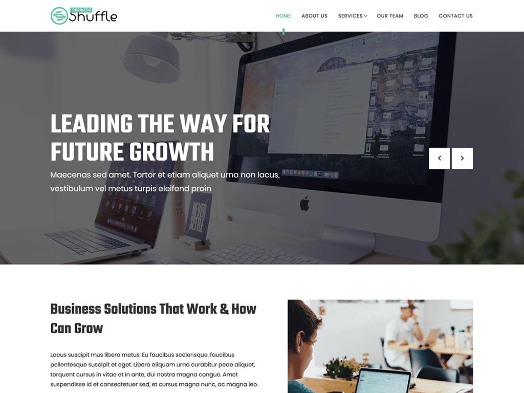 دانلود قالب شرکتی وردپرس Business Shuffle