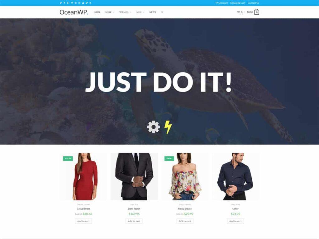 دانلود قالب شرکتی وردپرس OceanWP