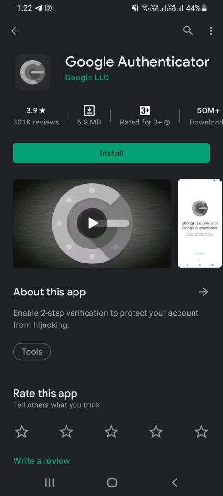 Google Authenticator در اندروید
